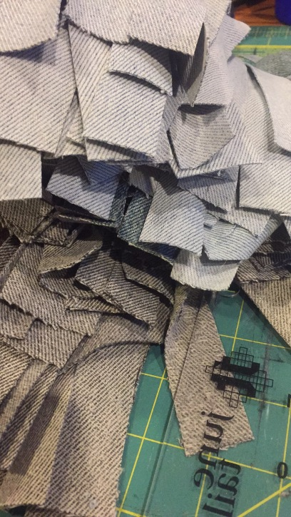 Denim strips ready for a new life